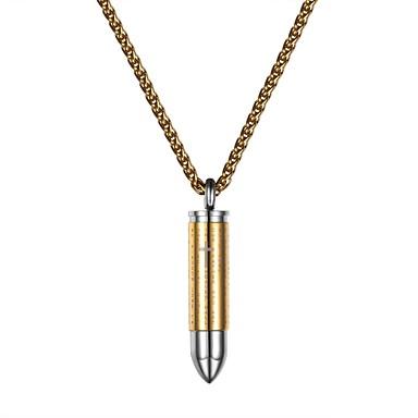 economico Collana-Per uomo Per donna Collane con ciondolo Acciaio inossidabile Di tendenza Oro Nero Argento 55 cm Collana Gioielli Per Quotidiano