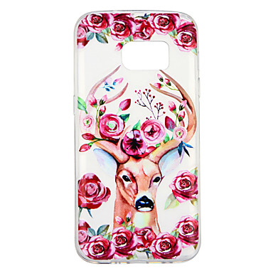 [$2.99] Case For Samsung Galaxy S7 Transparent Pattern Back Cover Flower Animal Soft TPU for S7