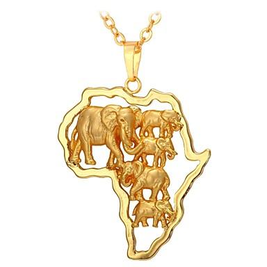 Per uomo Per donna Collane con ciondolo Di tendenza africano Oro 55 cm Collana Gioielli Per Quotidiano