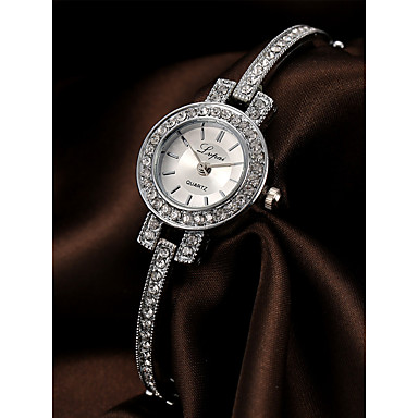 Women's Bracelet Watch Chinese Chronograph / Casual Watch / Imitation Diamond Alloy Band Luxury / Elegant Silver / Rose Gold