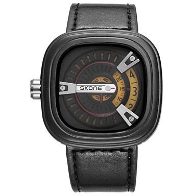 levne Pánské-Pánské Vojenské hodinky japonština Velkoformátové Pravá kůže Černá 30 m Kalendář Cool Punk Analogové Luxus - Zlatožlutá Červená Modrá Dva roky Životnost baterie / Velký ciferník