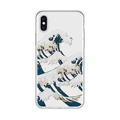 Capinha Para Apple iPhone X / iPhone 8 Plus Estampada Capa traseira Cenário / Desenho Animado Macia TPU para iPhone X / iPhone 8 Plus / iPhone 8
