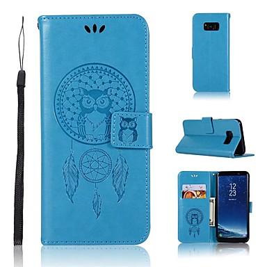 Недорогие Чехлы и кейсы для Galaxy S6-Кейс для Назначение SSamsung Galaxy S9 / S9 Plus / S8 Plus Кошелек / Бумажник для карт / Флип Чехол Сова / Ловец снов Твердый Кожа PU