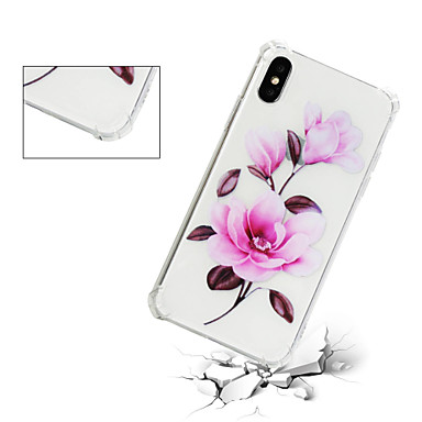 TPU Plus Fiore per retro disegno agli iPhone 06639656 X 8 iPhone iPhone Transparente Per Fantasia iPhone Custodia Apple urti Plus Morbido Resistente decorativo Per X 8 iPhone 8 HWAqUwYwZx