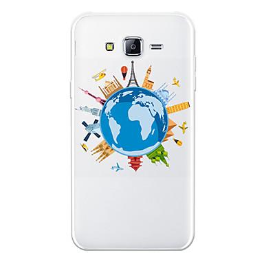 voordelige Galaxy J-serie hoesjes / covers-hoesje Voor Samsung Galaxy J7 (2017) / J7 (2016) / J7 Patroon Achterkant Cartoon / Uitzicht op de stad Zacht TPU