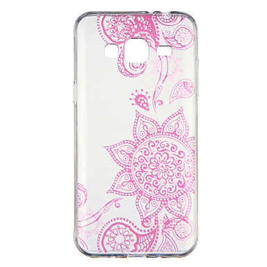 [$2.99] Case For Samsung Galaxy J3(2016) Transparent Pattern Back Cover Flower Soft TPU for J3 (2016)
