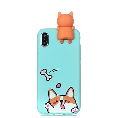 voordelige iPhone 6 hoesjes-hoesje Voor Apple iPhone X / iPhone 8 Plus / iPhone 8 Patroon / DHZ Achterkant Hond Zacht TPU