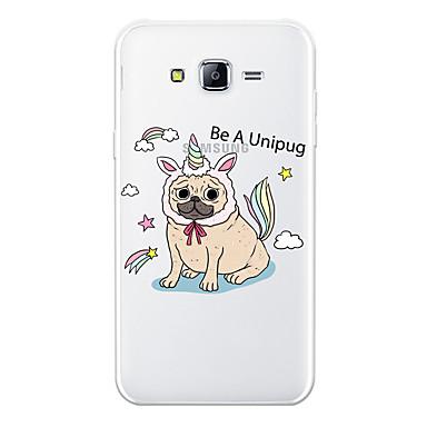 voordelige Galaxy J-serie hoesjes / covers-hoesje Voor Samsung Galaxy J7 (2017) / J7 (2016) / J7 Patroon Achterkant Hond / dier / Cartoon Zacht TPU