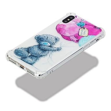 06633682 Transparente Apple Animali Morbido Resistente agli disegno TPU iPhone Plus iPhone X 8 Custodia urti per X Fantasia Per retro Per iPhone v54xwZaqn1
