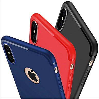 Case For Apple iPhone X / iPhone 8 / iPhone 7 Frosted Back Cover Solid Colored Soft Silicone for iPhone X / iPhone 8 Plus / iPhone 8