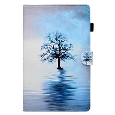 voordelige Samsung Tab-serie hoesjes / covers-hoesje Voor Samsung Galaxy Tab E 9.6 / Tab E 8.0 / Tab A 9.7 Kaarthouder / met standaard / Flip Volledig hoesje Boom Hard PU-nahka
