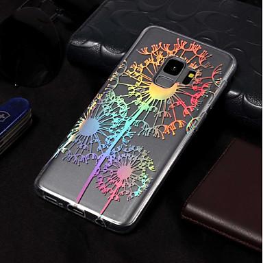 abordables Galaxy S6 Edge Etuis / Couvertures-Coque Pour Samsung Galaxy S9 / S9 Plus / S8 Plus Plaqué / Motif Coque Pissenlit Flexible TPU