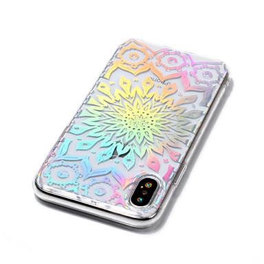 Apple Mandala iPhone Morbido disegno Plus per TPU X 8 Fiori 8 Plus X iPhone Per iPhone Fantasia Transparente 06711509 Placcato Custodia retro Per 8 iPhone iPhone 6wEw5