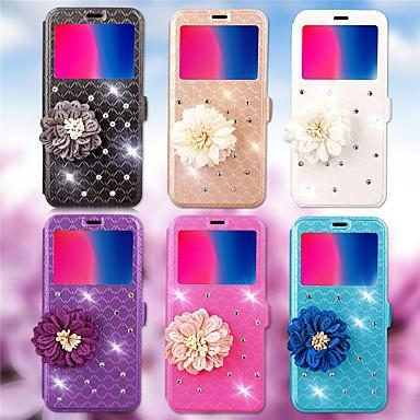 voordelige Huawei Y-serie hoesjes / covers-hoesje Voor Huawei Huawei Y5 II / Honor 5 / Nova Kaarthouder / Strass / met standaard Volledig hoesje Geometrisch patroon / Bloem Hard PU-nahka