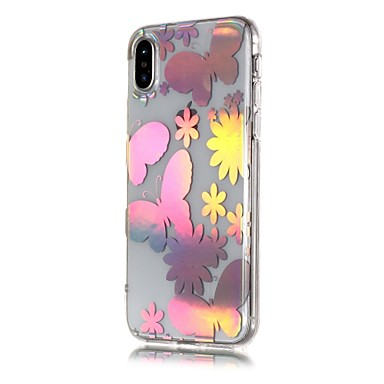 iPhone Per Per Farfalla TPU X Plus Apple per Morbido Fantasia iPhone 8 iPhone iPhone iPhone disegno retro 06671149 Custodia 8 Placcato X qndAcIPgqO