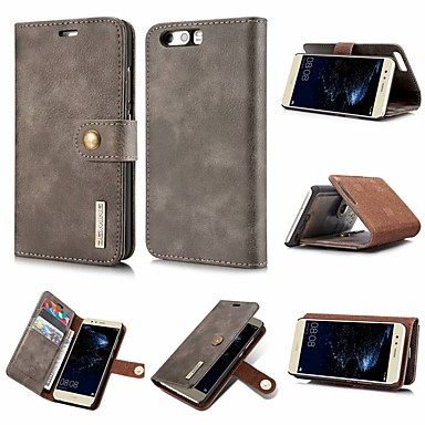 Case For Huawei P20 / P20 lite Wallet / Card Holder / Flip Full Body Cases Solid Colored Hard PU Leather for Huawei P20 / Huawei P20 Pro / Huawei P20 lite / P10 Plus / P10