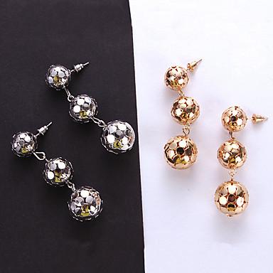 С кисточками Серьги-слезки - Шарообразные Простой, европейский, Мода Золотой / Серебряный Назначение Повседневные