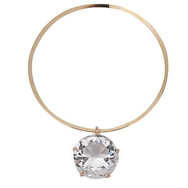 billige Mode Halskæde-Dame Kort halskæde Damer Simple Guld Sølv 41 cm Halskæder Smykker Til Daglig Ceremoni