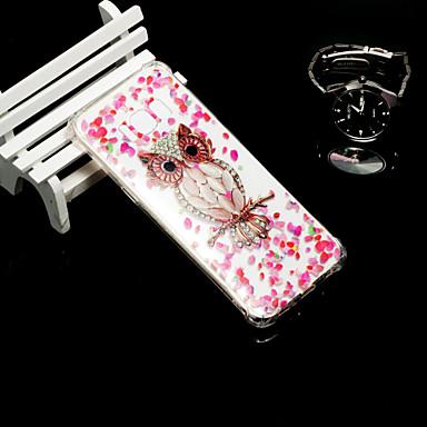 Недорогие Чехлы и кейсы для Galaxy S6-Кейс для Назначение SSamsung Galaxy S9 / S9 Plus / S8 Plus Защита от удара / Полупрозрачный Кейс на заднюю панель Сова Мягкий ТПУ