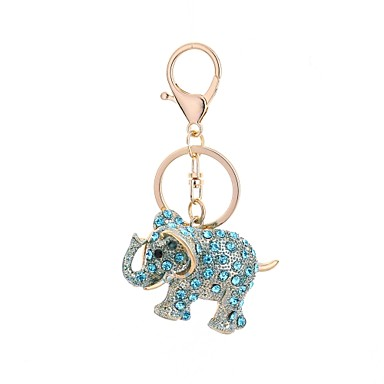 Недорогие Брелоки-Брелок Слон На каждый день Мода Модные кольца Бижутерия Светло-синий / Темно-русый / Светло-Розовый Назначение Подарок Повседневные