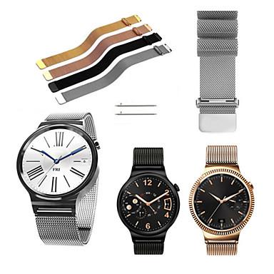 Недорогие Ремешки для часов Huawei-Ремешок для часов для Huawei Watch Huawei Миланский ремешок Нержавеющая сталь Повязка на запястье
