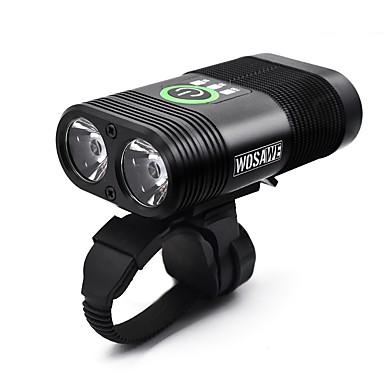 ieftine Lumini de Bicicletă-LED dublu Lumini de Bicicletă Iluminat Bicicletă Față Becul farurilor Lanternă Ciclism Rezistent la apă Portabil USB Baterie reîncărcabilă 2400 lm Alb Ciclism - WOSAWE / 360 ° Rotație