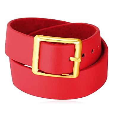 billige Krave-Krave Damer Mode Læder Plastik Sort Rød 42 cm Halskæder Smykker Til Daglig