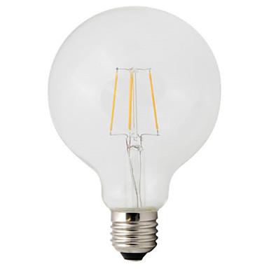 1шт 4W 360lm E26 / E27 LED лампы накаливания G95 4 Светодиодные бусины COB Декоративная Тёплый белый 220-240V / 1 шт. / RoHs