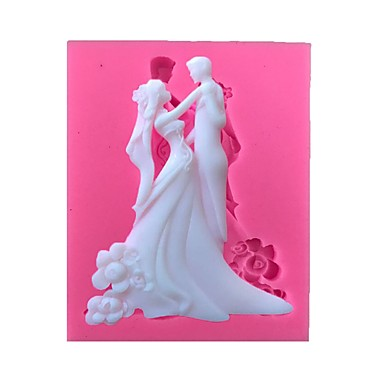 زفاف زوجين سيليكون قالب الكعكة أدوات خبز فندان
