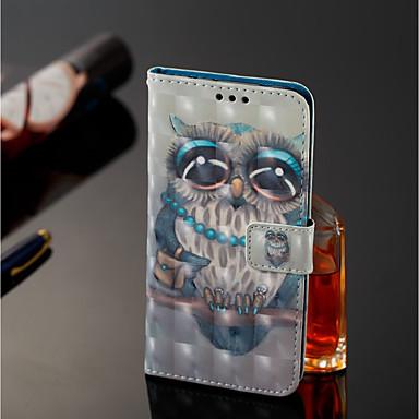 غطاء من أجل Samsung Galaxy J8 / J7 Duo محفظة / حامل البطاقات / مع حامل غطاء كامل للجسم بوم قاسي جلد PU إلى J8 / J7 Duo / J6