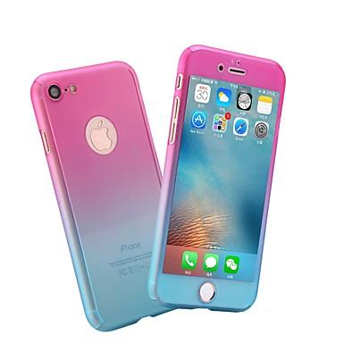 voordelige iPhone 5 hoesjes-hoesje Voor Apple iPhone X / iPhone 8 Plus / iPhone 8 Mat Volledig hoesje Marmer / Kleurgradatie Hard PC