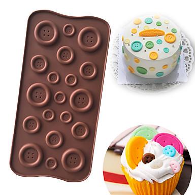 زر شكل سيليكون الشوكولاته العفن فندان قالب الحلوى