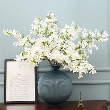 زهور اصطناعية 2 فرع كلاسيكي فردي أنيق زهري Camellia الزهور الخالدة أزهار الحائط