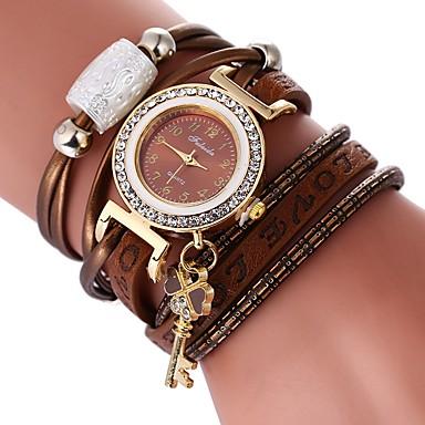 590e1c604 Women's Bracelet Watch Diamond Watch Wrap Bracelet Watch Quartz Quilted PU  Leather Black / White / Blue Casual Watch Lovely Imitation Diamond Analog  ...