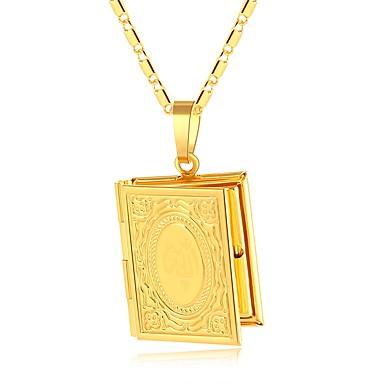 olcso Nyakláncok-Női Nyaklánc medálok Vastag lánc Kapocs hölgyek Vintage Etno Réz Arany Ezüst 50 cm Nyakláncok Ékszerek 1db Kompatibilitás Parti Ajándék