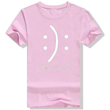 economico Abbigliamento uomo-T-shirt Per uomo Pop art Rotonda Grigio XXL / Manica corta