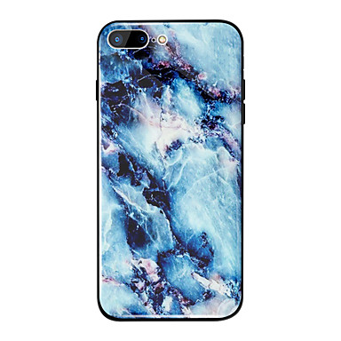 disegno 8 Per Custodia A iPhone iPhone 8 Resistente 8 Plus per specchio Plus temperato Effetto iPhone iPhone TPU Per X Vetro 06756815 X retro marmo Fantasia iPhone Apple FrwqvPF