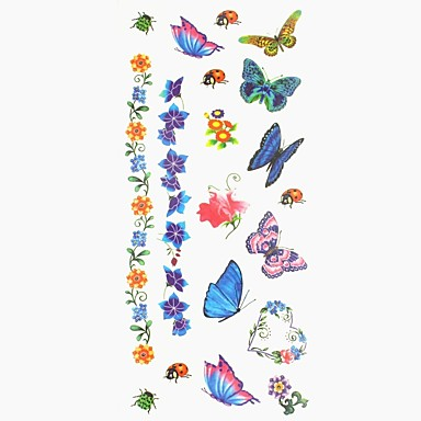 1 pcs Tattoo Stickers Temporary Tattoos Animal Series / Flower Series Body Arts Hand / Arm / Wrist