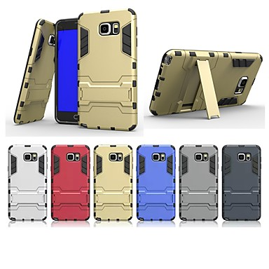 voordelige Galaxy Note 5 Hoesjes / covers-hoesje Voor Samsung Galaxy Note 5 met standaard Achterkant Effen Hard PC