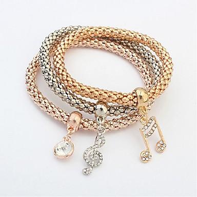 Dames Musique Multirang Bracelets Chaînes Mode Note Cérémonie Femme Multicouches Pour Parure Bracelet Bijoux 3pcs Ecole De Dorée yvm0P8nwNO