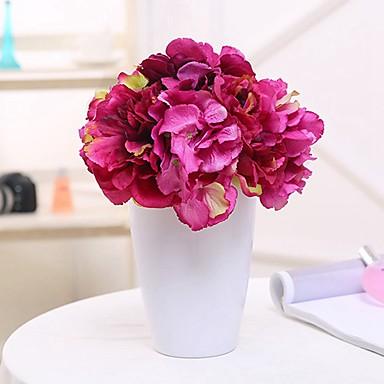 زهور اصطناعية 7 فرع كلاسيكي فردي أسلوب بسيط Wedding Flowers الفاوانيا الزهور الخالدة أزهار الطاولة
