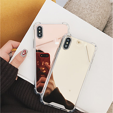 voordelige iPhone 7 hoesjes-hoesje Voor Apple iPhone X / iPhone 8 Plus / iPhone 8 Schokbestendig / Spiegel Achterkant Effen Hard PC