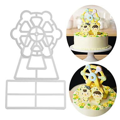 أدوات خبز الالومنيوم قادم جديد / 3D / اصنع بنفسك لكعكة / حفلة / عيد ميلاد قوالب الكيك مل 3pcs
