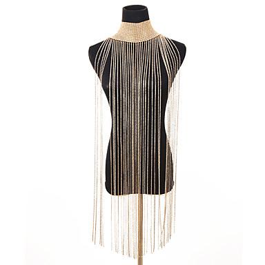 billige Mode Halskæde-Dame Lang Krave Erklæring Damer Vintage Sej Guld Sølv 28 cm Halskæder Smykker 1pc Til Fest Bikini