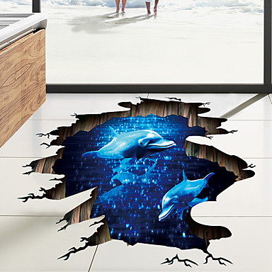 Decorative Wall Stickers / Floor Stickers - 3D Wall Stickers Landscape / 3D Living Room / Bedroom / Bathroom