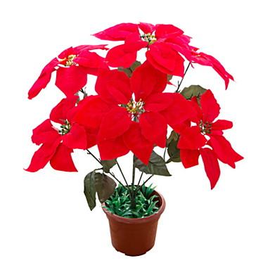 زهور اصطناعية 1 فرع فردي النمط الرعوي نباتات أزهار الطاولة