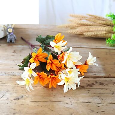 زهور اصطناعية 1 فرع كلاسيكي زهري الزنابق أزهار الأرض