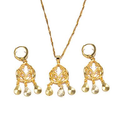 نسائي فراغ خارجي مجموعة مجوهرات سيدات, بوهيميان, موضة تتضمن أقراط طارة قلائد الحلي ذهبي من أجل مناسب للحفلات هدية