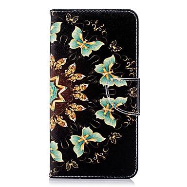 غطاء من أجل Huawei Huawei P20 / Huawei P20 Pro / Huawei P20 lite محفظة / حامل البطاقات / مع حامل غطاء كامل للجسم فراشة قاسي جلد PU / P10 Lite