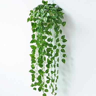 زهور اصطناعية 3 فرع كلاسيكي معلقة على الحائط زهري نباتات سلة زهور